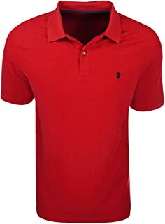 IZOD- Short Sleeve Advantage Pique Polo Red Size Extra Large