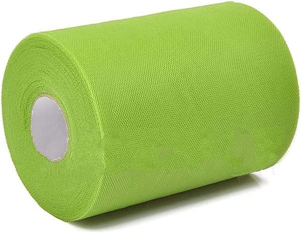 Tcplyn Premium Quality Soft 6 X100yd Tulle Roll Spool Wedding Craft Bridal Wrap Party Decor 6 X300 New Grass Green