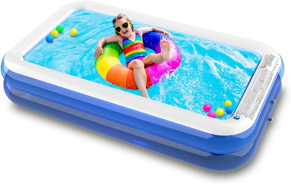 SURFMASS Family Inflatable Swimming Sales for sale Pool Oversize Virginia Beach Mall 12 Peoples 1-7