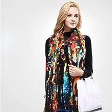 Wrap Shawl شال Scarf Brand Colorful Scarf Winter Women Scarf Female Wool Printing Shawl Cashmere Studios Warm Woman Wraps (Color : 03)