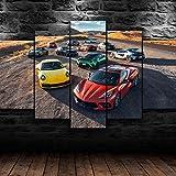 CCAR Bilder 5 Teilig Leinwandbilder 5 TLG Wand Bild