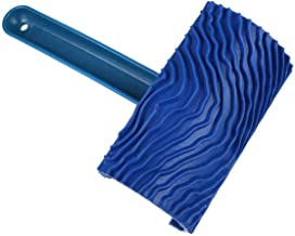 Ashley GAO Blauwe Houtnerf Schilderen Tool met Handvat Zz0033 Houtnerf Borstel Muur Imitatie Reliëf Muur Art Paint Tool
