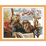 Punto de Cruz Amor Eterno Dos Perros Kits De Punto De Cruz De Algodón Ecológico China con Sello Impreso 14 11CT Decoración De Año Nuevo De Bricolaje For El Hogar