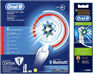 Oral-B Professional Care 5000 Smart Cepillo Eléctrico con Bluetooth + 2 Repuestos Cross Action
