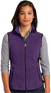 Port Authority Ladies R-Tek Pro Fleece Full-Zip Vest>4XL Purple Heather/Black