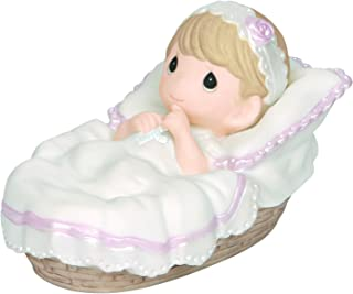 Precious Moments, Baptized In His Name, Girl, Bisque Porcelain Figurine, 143011