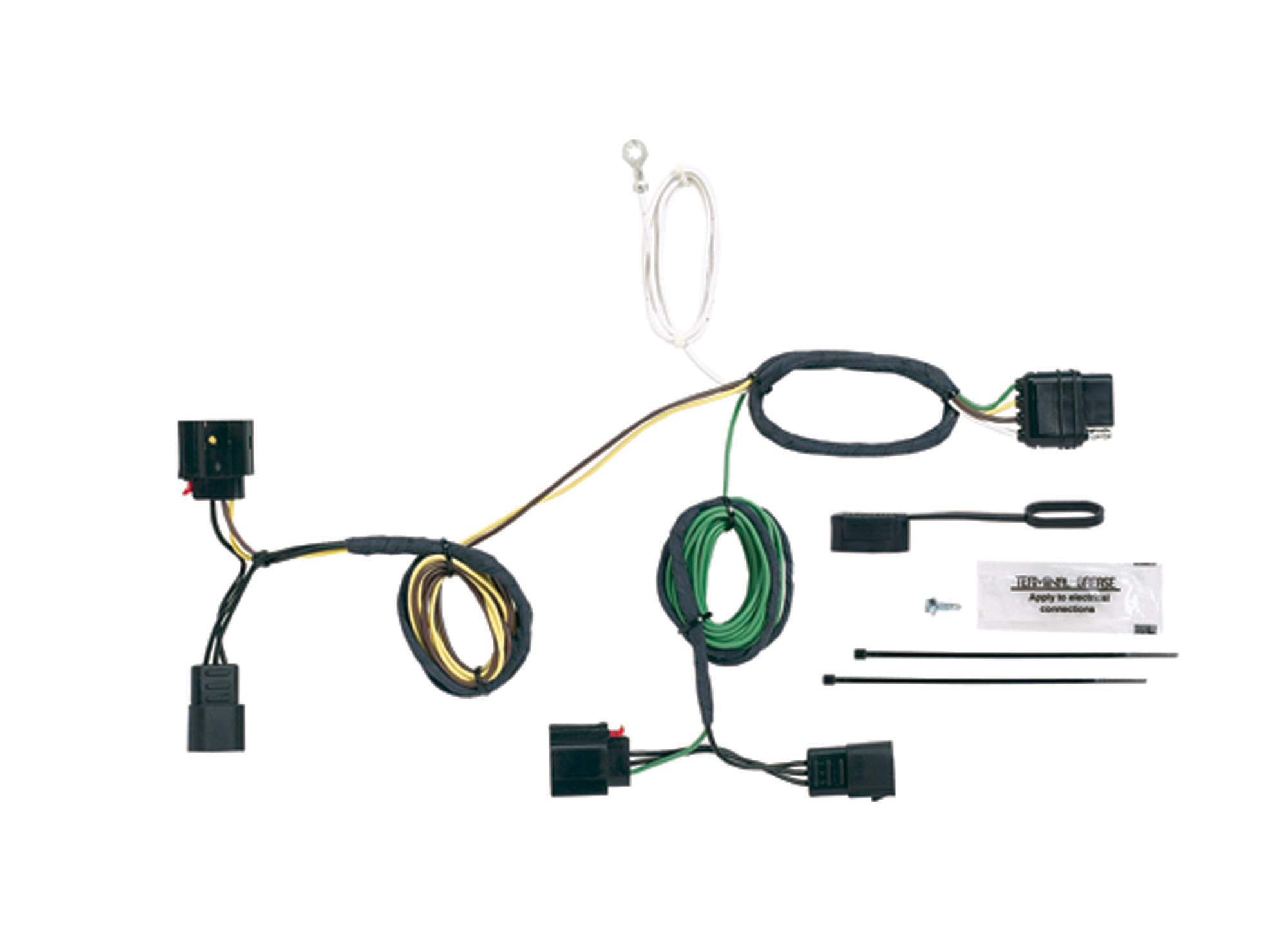 jeep cherokee trailer wiring harness accessory amazon comhopkins 42555 plug in simple vehicle to trailer wiring kit
