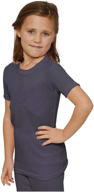 Octave 6 Pack Girls Thermal Underwear Short Sleeve T-Shirt//Vest//Top