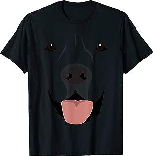 Labrador Face Funny Cute Lab Dog Halloween Costume Lazy T-Shirt