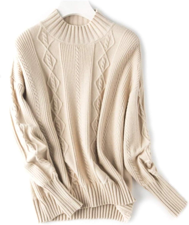 CEFULTY Women's Warm Cashmere Vneck Sweater Knit Long Sleeve Girls Size MXL