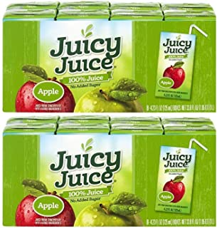 Juicy Juice 100% Apple Juice, 4.23-Ounce Packages 8 boxes, (2 pack)