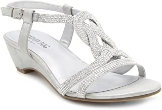 Womens Macey Demi-Wedge Dress Sandals