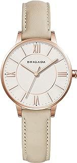 BRIGADA Elegant Ladies Dress Quartz Wrist Watch For Women Girls, Swiss Brand Japanese Movement Waterproof Small Nice Fashion Leather Women Watch