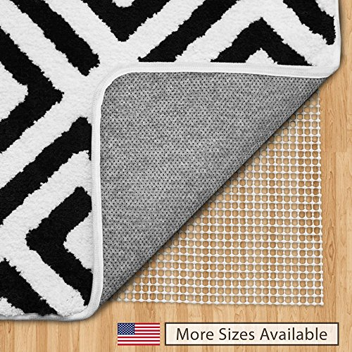 Gorilla Grip Original Area Rug Gripper Pad, 2x10, Made in USA, for Hard Floors, Pads Available in Many Sizes, Provides Protection and Cushion for Area Rugs and Floors