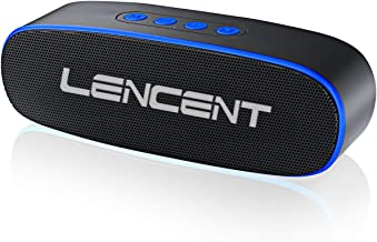 Portable Bluetooth 5.0 Speaker, LENCENT H1 Stereo Wireless Speaker with Built-in 10W Dual Drivers, TWS, Handsfree Call, FM Radio, TF Card/USB Slot for iPhone, iPod, iPad, Samsung and More - Blue