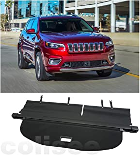 Cosilee Interior Rear Trunk Cargo Cover Security Shield Shade Tonneau Covers Fit on Jeep Cherokee 2019