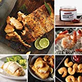 Seafood Favorites Assortment from Omaha Steaks (Marinated Salmon Fillets, Stuffed Sole with Scallops and Crabmeat, Pub-Style Cod, Redhook Amber Beer-Battered Shrimp, Jumbo Cooked Shrimp, and more)