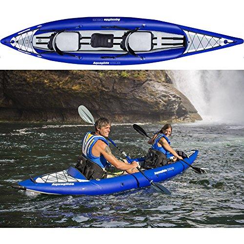 Aquaglide Chelan HB Tandem XL 3-Mann-Kajak-Hochdruck Kajak - Kapazität: 272 kg (1-3 kg)