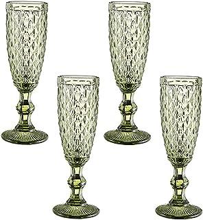 Champagne Flutes 5oz Classy Champagne Glass Set of 4 European & Elegant for Women Men Wedding Anniversary Christmas Birthd...