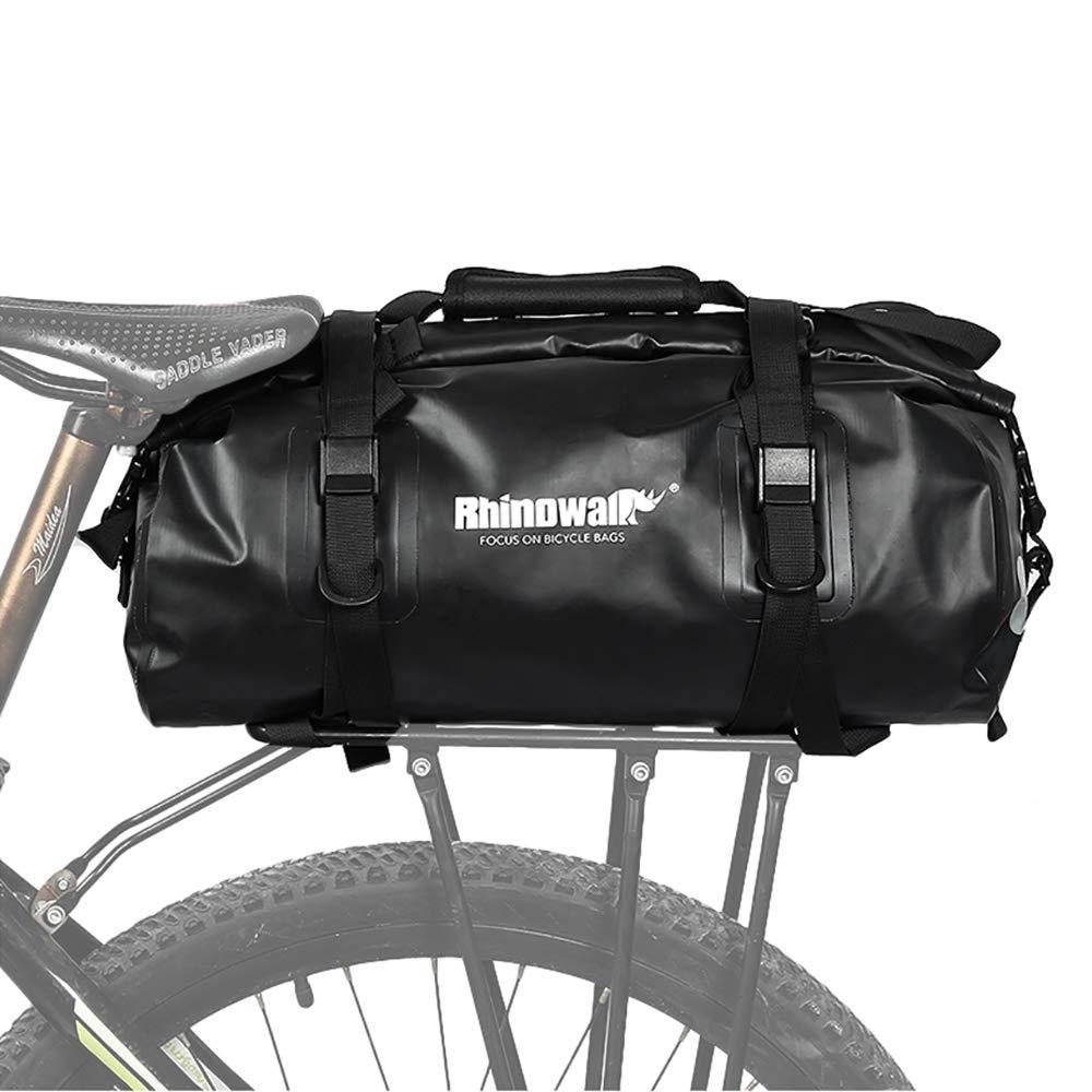 LKN Alforjas para Bicicleta, Bolsa de Equipaje de Viaje (Negro ...