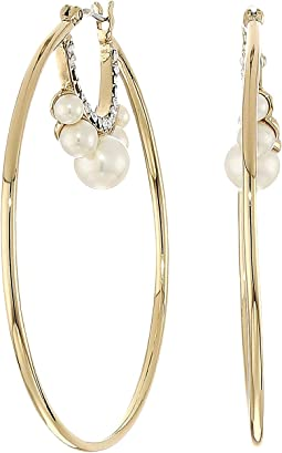 Pearl and Crystal Hoop Earrings
