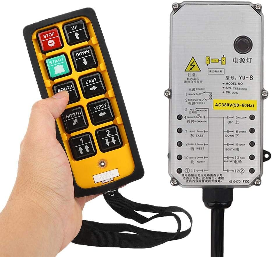 Acid Resistant Anti-Fall Reliable Anti-Interference CNC Controller Leftwei Romantic Valentines Day Hoist Controller Crane Waterproof for Cranes Conveyors Hoist Controller DC24V