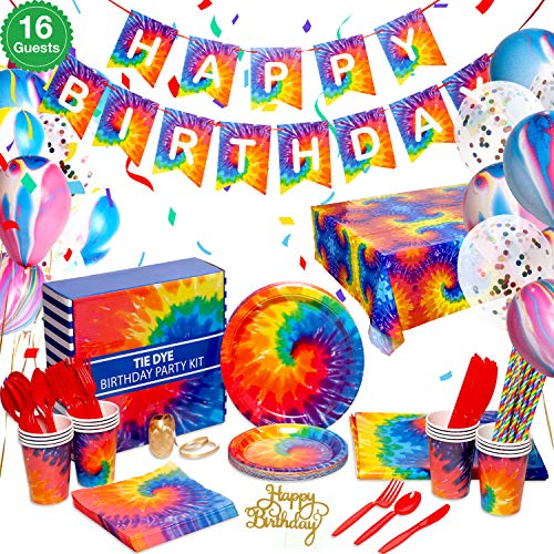 Pirese Tie Dye Birthday Party Su...