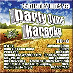 commercial Party Tyme Karaoke – Country Hit 19 [16-song CD+G] new karaoke cd