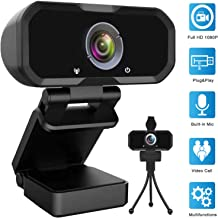 Webcam 1080p HD Computer Camera – Microphone Laptop USB PC Webcam, HD Full Gaming..