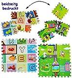 alles-meine.de GmbH 8 TLG. Set _ Puzzle Teppich aus Moosgummi -  2 SEITIG - Buchstaben ABC / Alphabet & Spielstraße  - 8 Matten aus Schaumstoff - zum Puzzeln / Puzzleteppich EV..