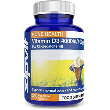 Vitamin D 4000iu 360 Micro Tablets. Vegetarian Society Approved. 12 Months Supply. Vitamin D3 Supports Bone Health and Your Immune System