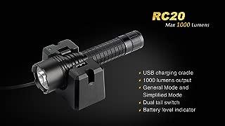 Fenix RC Series Rechargeable Flashlight Black - 1000 Lumens