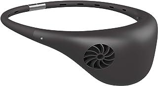 ドウシシャ 携帯扇風機 ハンズフリーファン hooop 2電源(USB 充電式) 風量3段階 ピエリア グレー FSV-02B GY