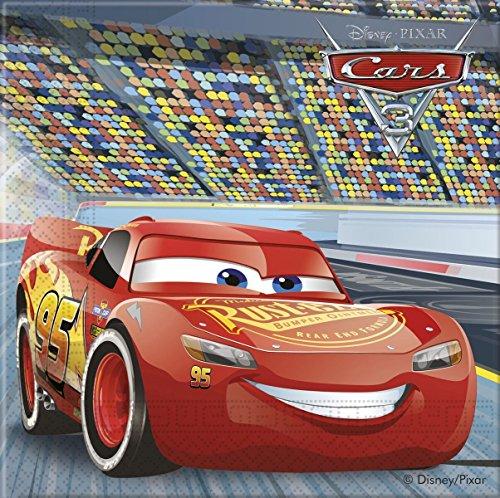 20 Servietten * CARS 3 * von Disney für Kindergeburtstag oder Motto-Party // Party Napkins Motto Lightning McQueen Autos Rennautos Rennen