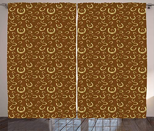 Ambesonne Western Curtains, Horse S…