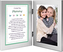 I Love You Mommy Gift from Son or Daughter - Sweet Poem in Double Frame - Add Photo