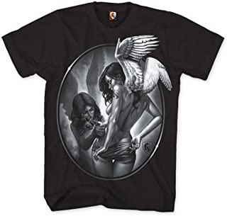 OG ABEL Men's Tattin Angels SS T Shirt Black S