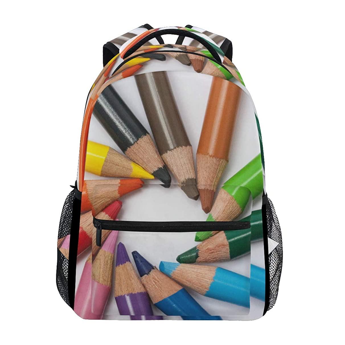 MONTOJ Colored Pencils in Circle Travel Bag Campus Backpack
