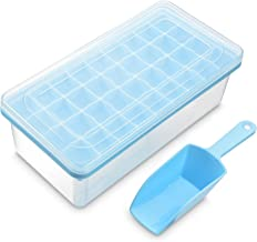 Ice Cube Tray With Lid and Bin – Silicone Ice Tray For Freezer | Comes with Ice Container – Yoove