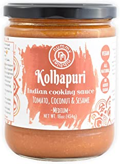 Nummy Nibbles Kolhapuri Indian Cooking Sauce (Pack of 2)|Whole30 Approved, Vegan,No Added Sugar,Non GMO,Keto Friendly,Dairy Free