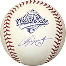 Chipper Jones Atlanta Braves Autographed 1995 World Series Signed Baseball JSA COA With UV Display Case