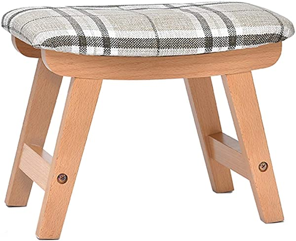Solid Wood Stool Living Room Creative Small Bench Home Adult Shoes Stool Sofa Kitchen Fabric Stool