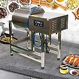 Máquina de sal de carne, 200 W, acero inoxidable, carnicería, panadería, marinador para supermercados, tiendas de alimentos