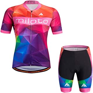 Women's Short Sleeve Cycling Jersey Jacket Cycling Shirt Quick Dry Breathable Mountain Clothing Set Bike Top