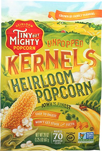 Buy Bargain Tiny But Mighty Heirloom Popcorn, Healthy and Delicious, Unpopped Kernels, 1.25lb Bag