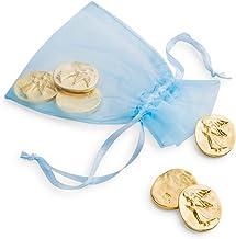 DANFORTH - Vilmain Golden Angel Pocket Tokens, Bag of 6 Pocket Coins - Pewter - Made in USA