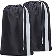 Sponsored Ad - HOMEST 2 Pack XL Nylon Laundry Bag with Strap, Machine Washable Large Dirty Clothes Organizer, Easy Fit a L...