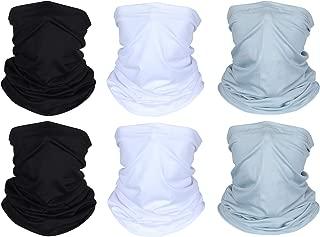 6 Pieces Summer UV Protection Face Mask Neck Gaiter Scarf Sunscreen Breathable Bandana