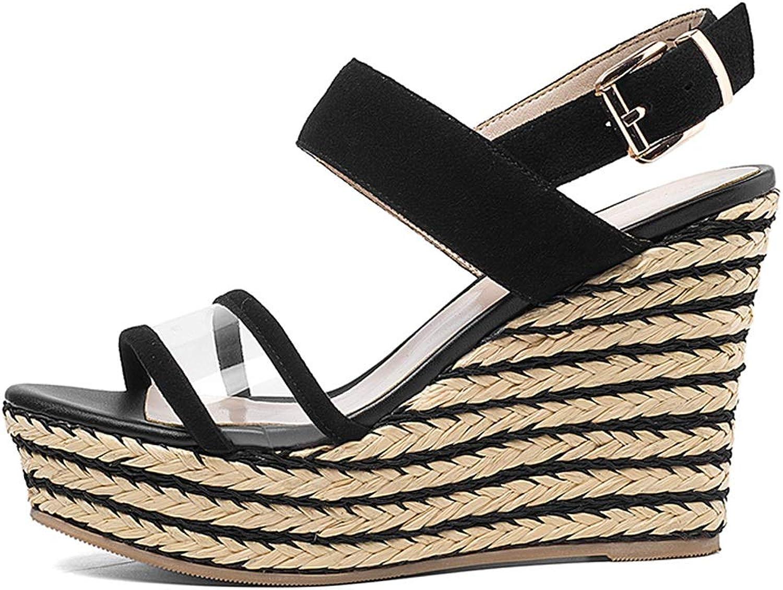 2285b6cf Versatile Sandals Muffin Platform High-Rise Summer Pumps Heel Wedge ...