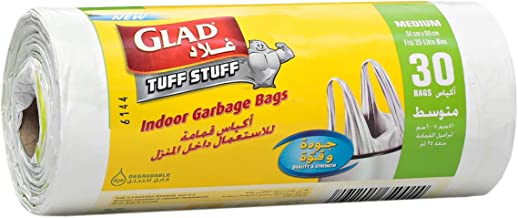 Glad Garbage Medium White Handle Bags, 35 L